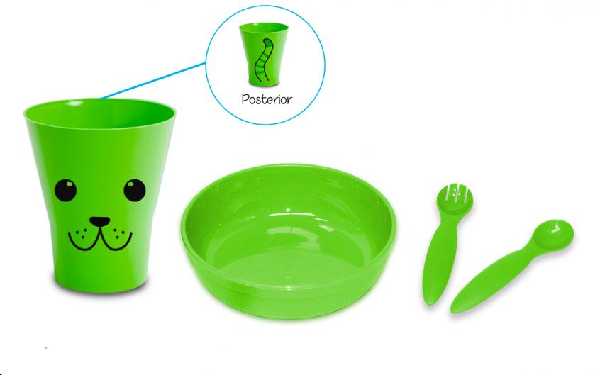 kit con plato verde